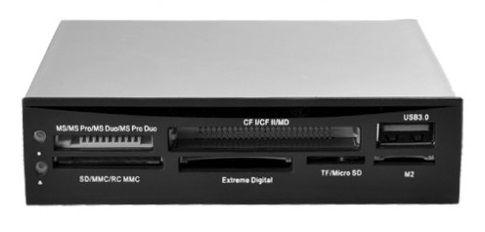 iBOX Internal Card Reader 88in1 + USB 3.0 Black