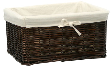 Home4you	Basket Max 30x21x18cm Dark Brown