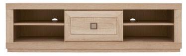 TV-laud Black Red White Oregon Sonoma Oak, 1365x435x395 mm