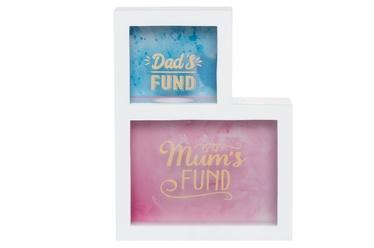 Коробка для денег 4Living, розовый/голубой