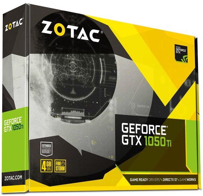 Zotac GeForce GTX1050 Ti Mini 4GB GDDR5 PCIE ZT-P10510A-10L