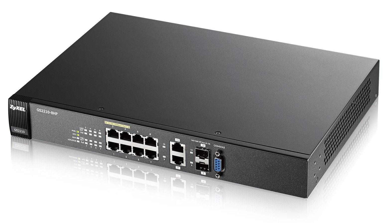 ZyXEL GS2210-8HP 8-port