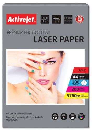 ActiveJet Photo Paper Glossy A4 for Laser Printers
