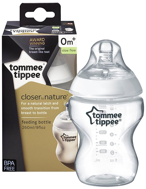 Tommee Tippee Closer To Nature Feeding Bottle 260ml 422500