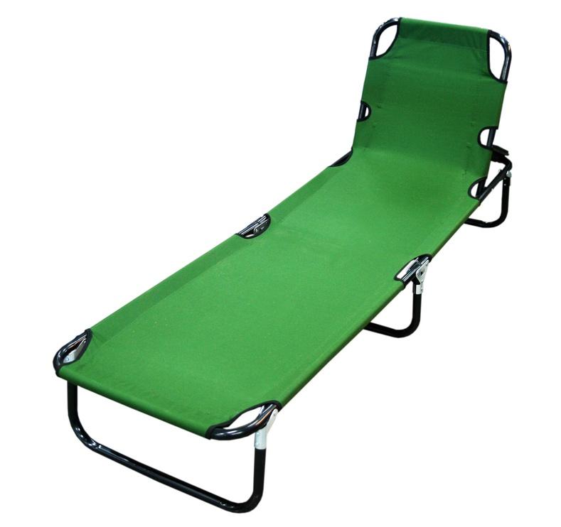 BESK Folding Bed 190x56x28cm Green