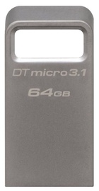 Kingston 64GB DataTraveler Micro Memory Stick USB 3.1 Silver