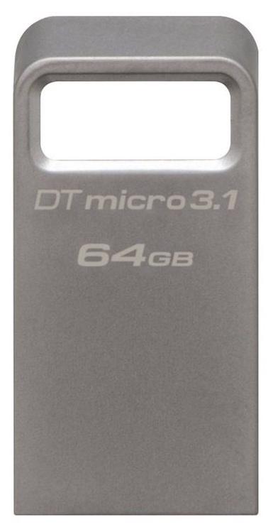 Kingston 64GB DataTraveler Micro Memory Stick USB 3.1 Silver