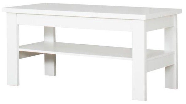 Kafijas galdiņš Bodzio S39, balta, 1200x600x590 mm