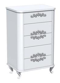 Silva Blanzh Chest Of Drawers 66x46x103cm White