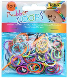 Folia Rubber Loops Mixed Colors 100pcs