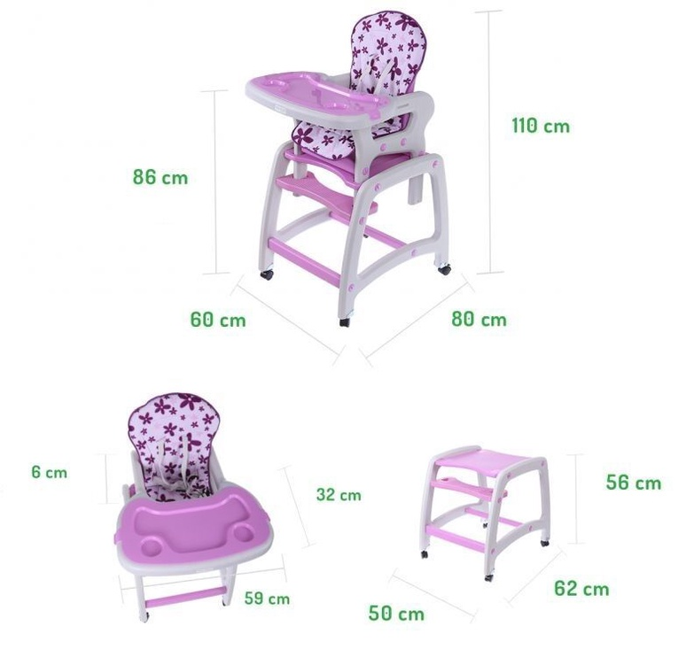 EcoToys Highchair 2-In-1 Purple