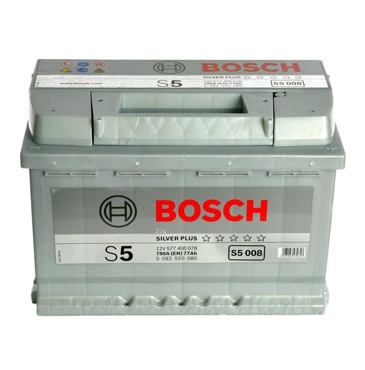 Aku Bosch S5, 12 V, 77 Ah, 780 A