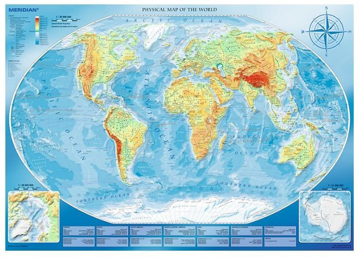 Map Of The World Picture.Trefl Puzzle Physical Map Of The World 4000pcs 45007t