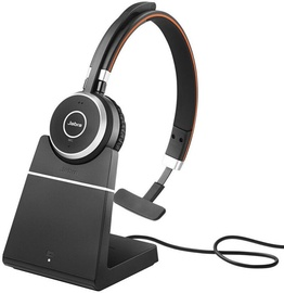 Jabra Evolve 65 Mono On-Ear Headset Black w/Charging Stand