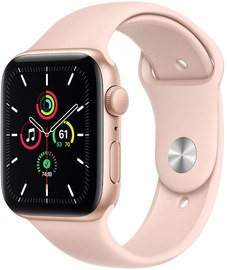 Apple Watch SE GPS 44mm Gold Aluminum Pink Sand Sport Band