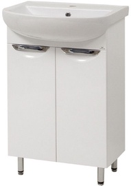 Sanservis Laura-55 Cabinet with Basin White 55x84.5x44cm