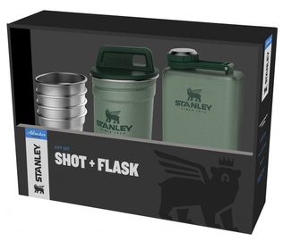 Stanley Adventure Gift Set 4pcs Shot 50ml + Flask 0.23l Green