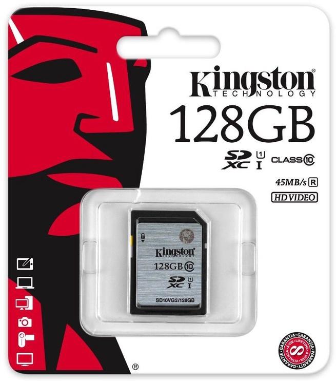 Mälukaart Kingston 128GB SDXC UHS-I Flash Card Class 10
