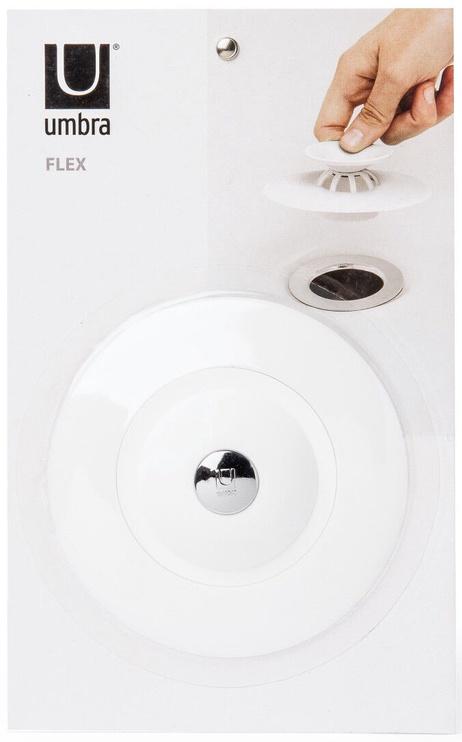 Umbra Flex Drain Stop & Hair Catcher White