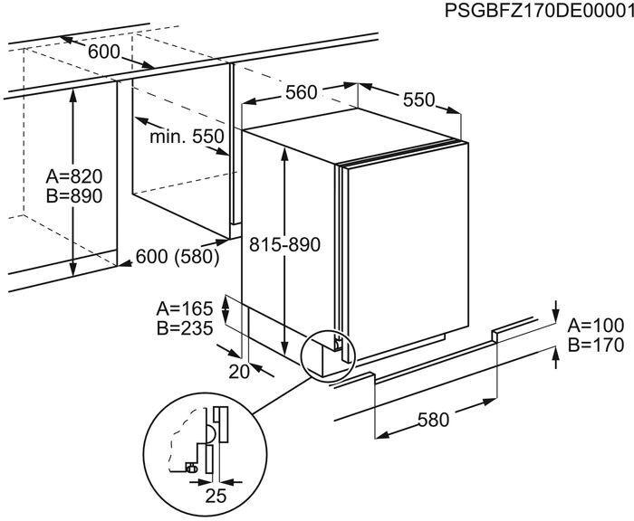Įmontuojamas šaldytuvas Electrolux LXB2AF82S