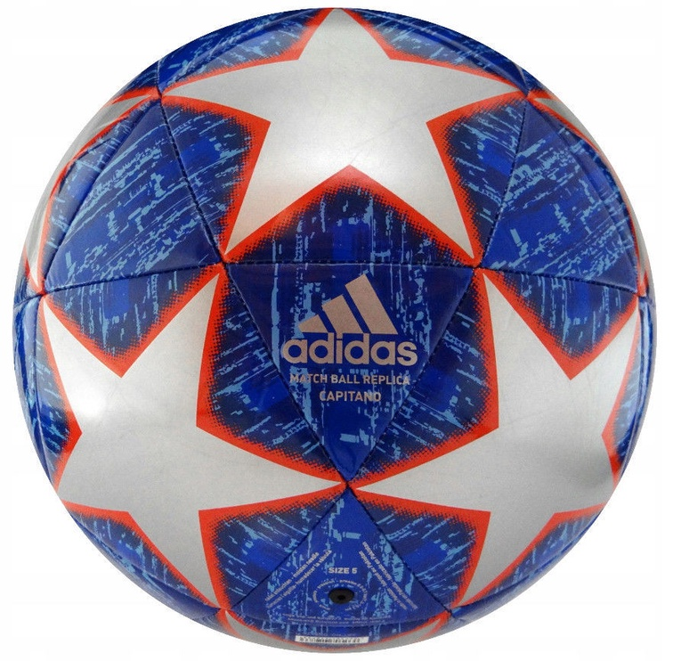 Adidas UCL Finale 19 Real Madrid Capitano Ball DN8678 Blue Size 4