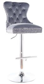Bāra krēsls Signal Meble Modern August C H-1 Velvet, pelēka