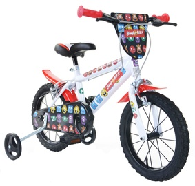"Lastejalgratas Bimbo Bike 77325 14"" White Red"