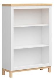 Black Red White Shelf Haga REG/90 White/Oak 130x34cm