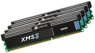 Corsair XMS3 16GB DDR3 CL9 KIT OF 4 CMX16GX3M4A1600C9