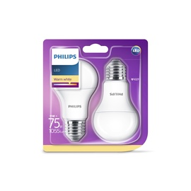 SPULDZE LED LAMP 11W E27 827 A60 FR 2PCS (PHILIPS)