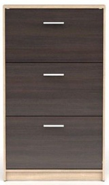 Batų spintelė Black Red White Nepo Plus Sonoma Oak/Wenge, 700x175x1200 mm
