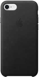 Ümbris Apple Leather Case For Apple iPhone 7 Plus/8 Plus, must (kahjustatud pakend)