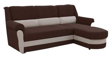 Stūra dīvāns Idzczak Meble Bruno Brown/Grey, 240 x 170 x 97 cm