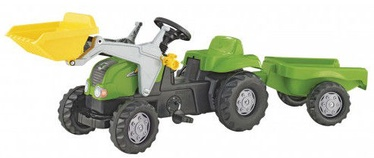 Rolly Toys Tractor With Frontloader & Trailer Green 023134
