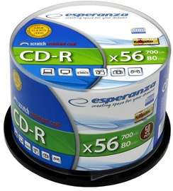Esperanza 2004 CD-R 52X 700MB 50 Pack Cake Box