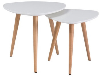 Signal Meble Nolan A Set Of Two Coffee Tables White/Beech