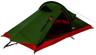 Divvietīga telts High Peak Siskin 2 10183, sarkana/zaļa