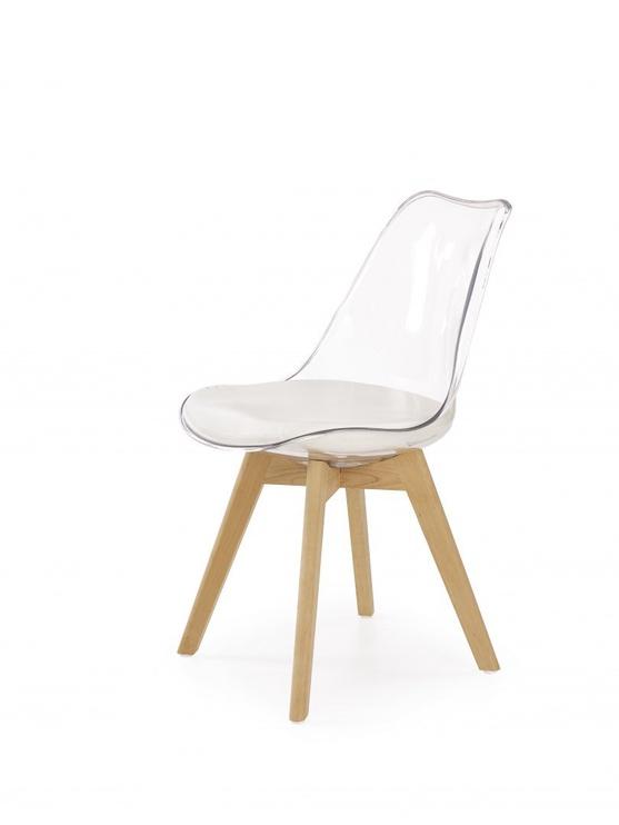 Valgomojo kėdė Halmar K246 Beech/Transparent