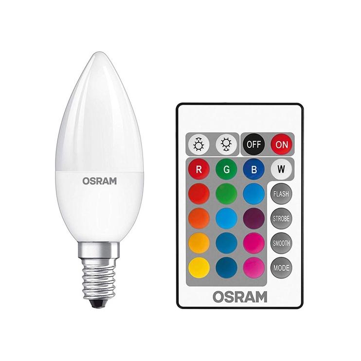 SPULDZE LED B25 4.5W E14 RGB+REMOTE 2PCS
