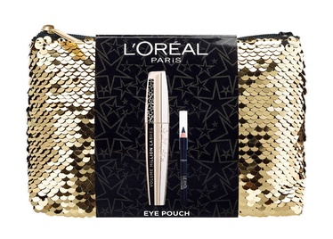 L´Oreal Paris Eye Pouch Gift Set Volume Million Lashes Mascara Black + Le Khol By Superliner Black + Bag