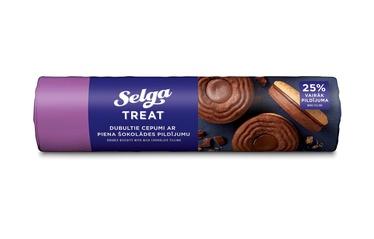 Sausainiai, Selga double su pieniško šokolado įdaru 205 g.