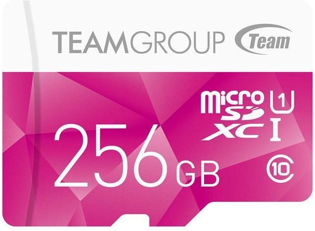 Карта памяти Team Group Color 256GB microSDXC UHS-1 w/Adapter Pink