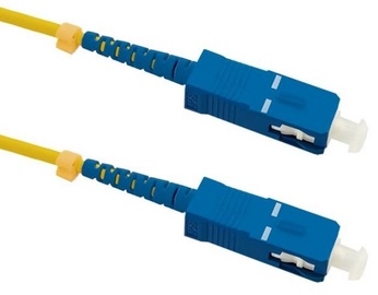 Qoltec SC/UPC to SC/UPC Optic Singlemode Cable Yellow 3m