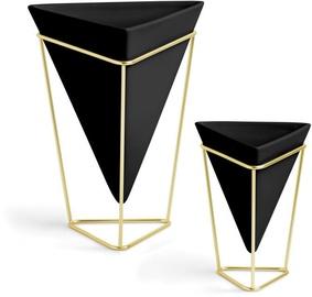 Вазон Umbra Trigg Vessel Set Black/Brass 2pcs