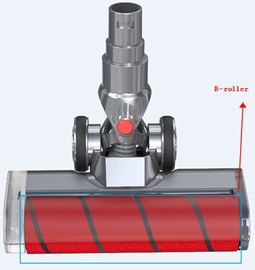 Mamibot Roller With Fur Brush V7 Gray/Red