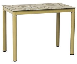 Signal Meble Table Damar Beige 100 x 60cm