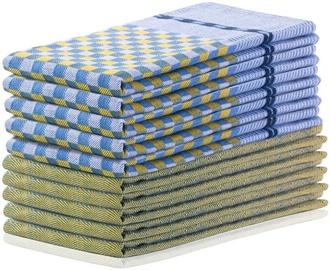 Köögirätik DecoKing Louie, sinine/kollane, 70 cm x 50 cm, 10 tk