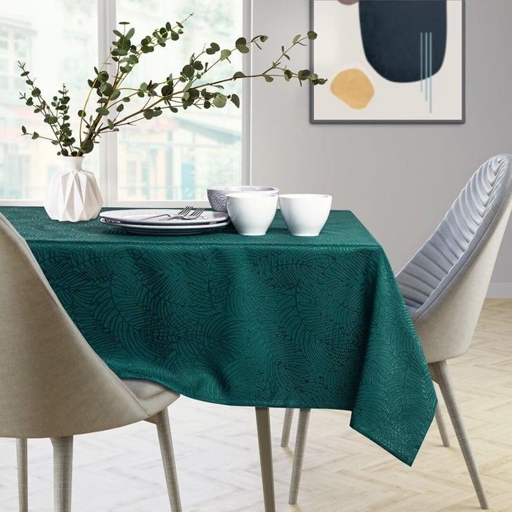 AmeliaHome Gaia Tablecloth HMD Bottle Green 140x340cm