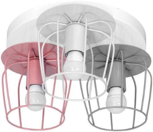 Milagro Carlos 529 Multicolor Ceiling Lamp 3x60W E27 Pink/Gray/White