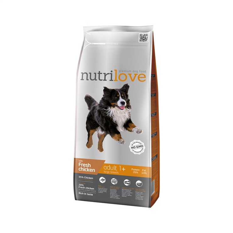 Сухой корм для собак Nutrilove Complete Dry Food Adult Large Breed Chicken 3kg